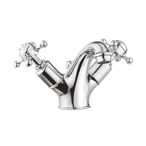 CROSSWATER BELGRAVIA CROSSHEAD BASIN MIXER WITH POP UP WASTE Chrome