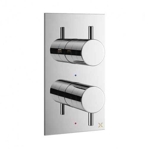 CROSSWATER MPRO THERMOSTATIC SHOWER VALVE CHROME