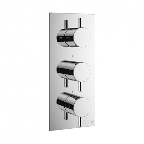 CROSSWATER MPRO THERMOSTATIC SHOWER VALVE TWO WAY DIVERTER CHROME