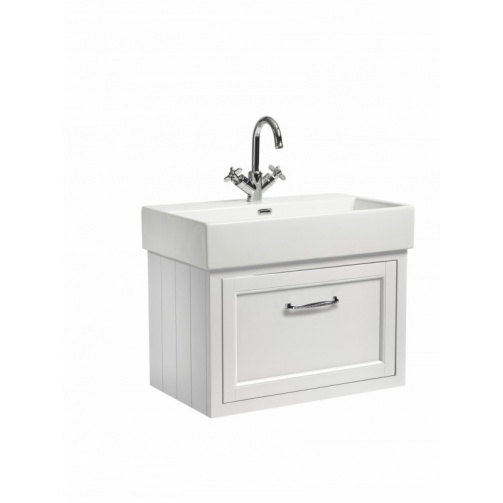ROPER RHODES 700 HAMPTON WALL MOUNTED BASIN UNIT COMPLETE WITH CERAMIC BASIN CHALK WHITE
