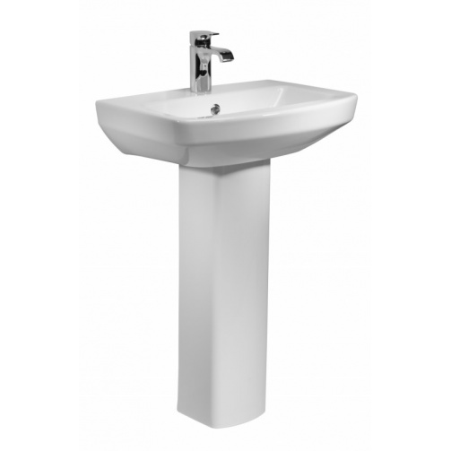 TAVISTOCK VIBE 550MM BASIN AND PEDESTAL ONE TAP HOLE