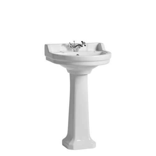 TAVISTOCK VITORIA 550MM ROUND BASIN AND PEDESTAL ONE TAP HOLE