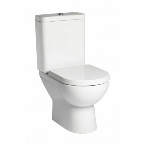 TAVISTOCK ION OPEN BACK CLOSE COUPLED TOILET WITH SOFT CLOSE SEAT
