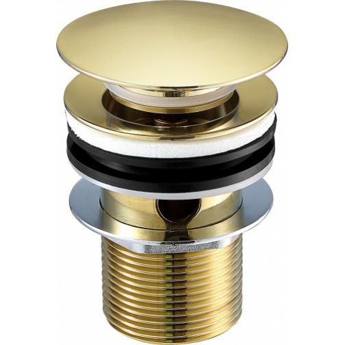 Just taps vos slotted basin waste brushed brass