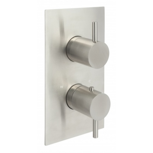 Just taps inox concealed thermostatic shower valve three outlet stainless steel