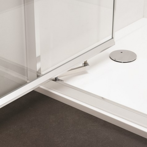 SIMPSON CLEAR 6 INFOLD DOOR MATT BLACK
