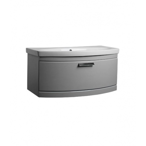 TAVISTOCK TEMPO 900MM WALL MOUNTED VANITY UNIT GLOSS LIGHT GREY