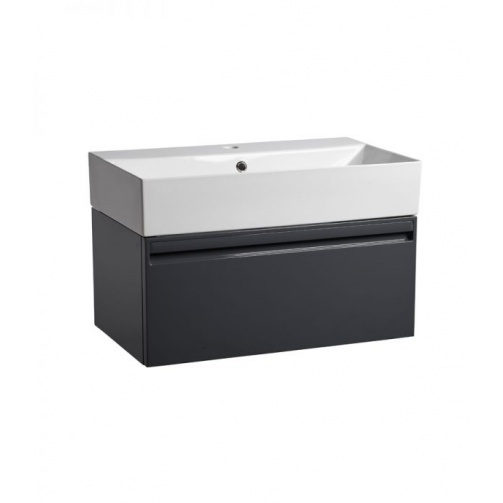 TAVISTOCK FORUM 700MM WALL MOUNTED VANITY UNIT GLOSS DARK GREY