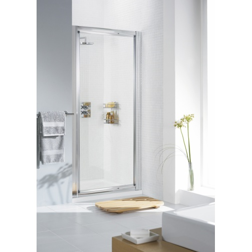 Lakes Classic Framed Pivot Door Silver