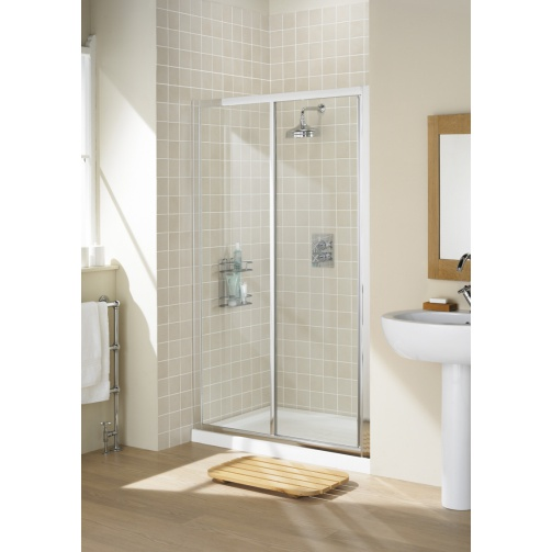 Lakes Classic Framed  Slider Door Silver