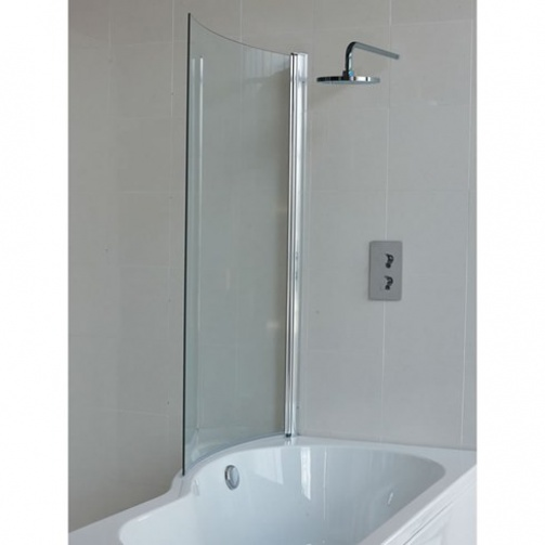 Cleargreen Ecoround 1700x740mm Shower Bath Inc Panel & Screen