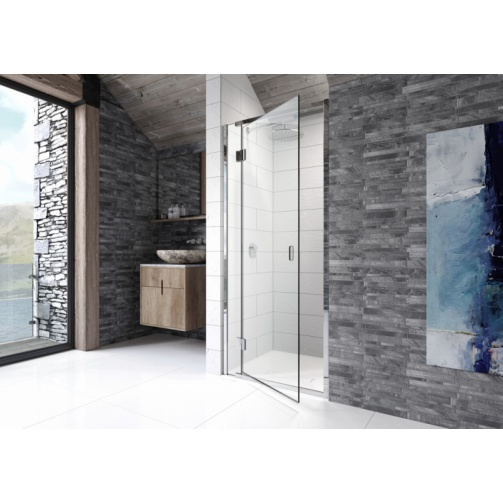 Kudos Pinnacle8 800mm Hinged Recess Door Silver