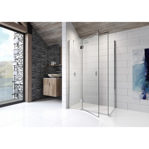 Kudos Pinnacle8 800mm Hinged Corner Door Silver