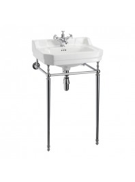 Burlington Edwardian 610mm Basin With chrome Washstand