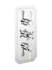 CROSSWATER BELGRAVIA 3000 RECESSED THERMOSTATIC SHOWER VALVE WITH THREE WAY DIVERTER CHROME