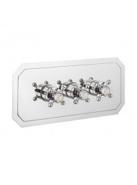CROSSWATER BELGRAVIA 3001 RECESSED THERMOSTATIC SHOWER VALVE WITH THREE WAY DIVERTER CHROME