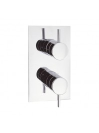 CROSSWATER KAI LEVER RECESSED THERMOSTATIC SHOWER VALVE WITH TWO WAY DIVERTER CHROME