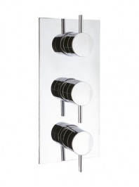 CROSSWATER KAI LEVER RECESSED SHOWER VALVE WITH TWO WAY DIVERTER CHROME