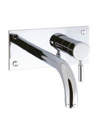 CROSSWATER DESIGN WALL MOUNTED BATH FILLER CHROME