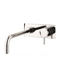 CROSSWATER KAI LEVER BASIN TWO HOLE SET WALL MOUNTED CHROME