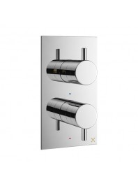 CROSSWATER MPRO RECESSED THERMOSTATIC SHOWER CALVE WITH TWO WAY DIVERTER CHROME