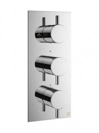 CROSSWATER MPRO RECESSED THERMOSTATIC SHOWER VALVE WITH THREE WAY DIVERTER CHROME