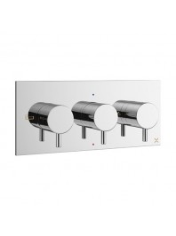 CROSSWATER MPRO RECESSED SHOWER VALVE WITH THREE WAY DIVERTER CHROME