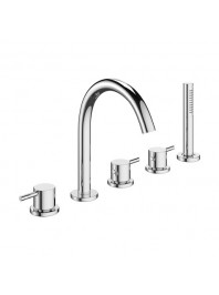 CROSSWATER MPRO BATH FIVE HOLE SET CHROME
