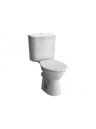 VITRA MILTON CLOSE COUPLED TOILET WITH SOFT CLOSE SEAT
