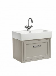 ROPER RHODES 700 WALL MOUNTED BASIN UNIT COMPLETE WITH CERAMIC BASIN MOCHA