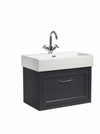 ROPER RHODES HAMPTON 700 WALL MOUNTED BASIN UNIT COMPLETE WITH CERAMIC BASIN SLATE GREY