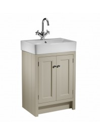 ROPER RHODES 575MM HAMPTON BASIN UNIT WITH CERAMIC BASIN MOCHA