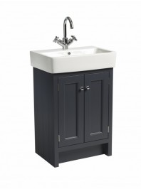 ROPER RHODES 575MM HAMPTON BASIN UNIT WITH CERAMIC BASIN SLATE GREY