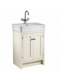 ROPER RHODES 575MM HAMPTON BASIN UNIT WITH CERAMIC BASIN VANILLA