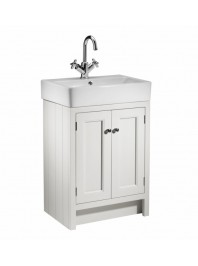 ROPER RHODES 575MM HAMPTON VANITY UNIT WITH CERAMIC BASIN CHALK WHITE