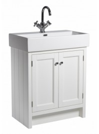 ROPER RHODES 700MM BASIN UNIT WITH CERAMIC BASIN ONE TAP HOLE CHALK WHITE