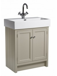 ROPER RHODES 700MM HAMPTON BASIN UNIT WITH CERAMIC BASIN ONE TAP HOLE MOCHA