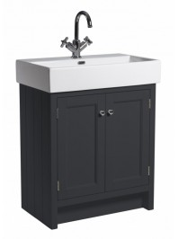 ROPER RHODES 700MM HAMPTON BASIN UNIT WITH CERAMIC BASIN ONE TAP HOLE SLATE GREY