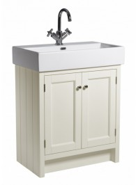 ROPER RHODES 700MM HAMPTON BASIN UNIT WITH CERAMIC BASIN ONE TAP HOLE VANILLA