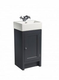 ROPER RHODES 400 HAMPTON CLOAKROOM BASIN UNIT COMPLETE WITH CERAMIC BASIN SLATE GREY
