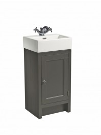 ROPER RHODES HAMPTON 400 CLOAKROM BASIN UNIT COMPLETE WITH CERAMIC BASIN PEWTER