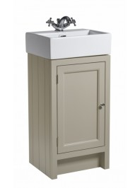 ROPER RHODES HAMPTON 400 CLOAKROOM BASIN UNIT COMPLETE WITH CERAMIC BASIN MOCHA