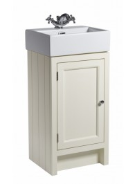 ROPER RHODES HAMPTON 400 CLOAKROOM BASIN UNIT COMPLETE WITH CERAMIC BASIN VANILLA