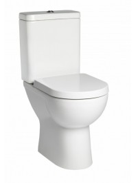 TAVISTOCK ION COMFORT HEIGHT CLOSE COUPLED TOILET WITH SOFT CLOSE SEAT
