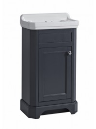TAVISTOCK 500MM VITORIA CLOAKROOM UNIT COMPLETE WITH TWO TAP HOLE BASIN MATT DARK GREY