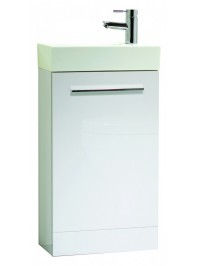 TAVISTOCK KOBE 450MM FREESTANDING UNIT COMPLETE WITH CERAMIC BASIN GLOSS WHITE