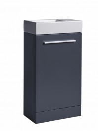TAVISTOCK KOBE 450MM FREESTANDING UNIT COMPLETE WITH CERAMIC BASIN STORM GREY