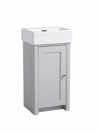 TAVISTOCK LANSDOWN CLOAKROOM UNIT COMPLETE WITH CERAMIC BASIN ONE TAP HOLE PEBBLE GREY