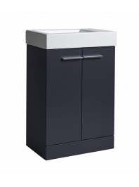 TAVISTOCK KOBE 560MM FREESTANDING UNIT COMPLETE WITH CERAMIC BASIN STORM GREY