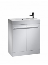 TAVISTOCK KOBE 700MM FREESTANDING UNIT COMPLETE WITH CERAMIC BASIN GLOSS WHITE